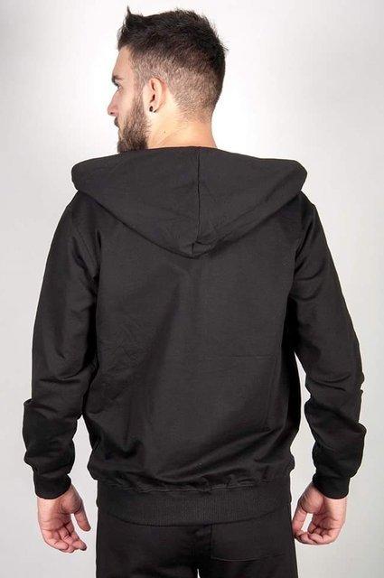 Bluza męska, rozpinana z kapturem, czarna.