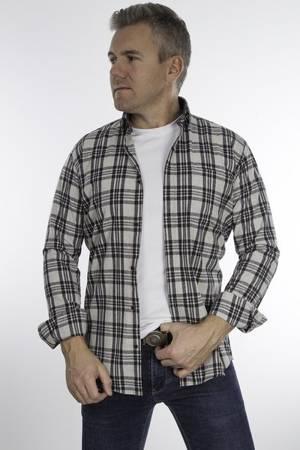 Koszula męska model DUBAI - szara