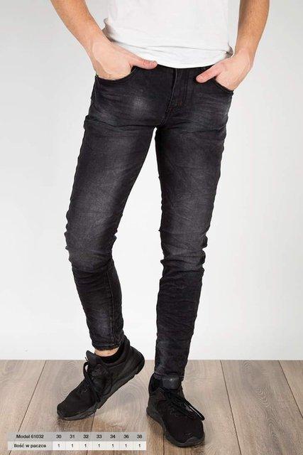 Męskie spodnie jeansowe, 61032, slim fit
