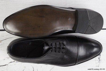 Półbuty męskie wiązane LB101 - czarne