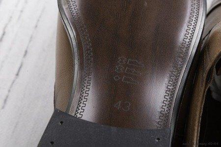 Półbuty męskie wiązane LB101 - jasno brązowe