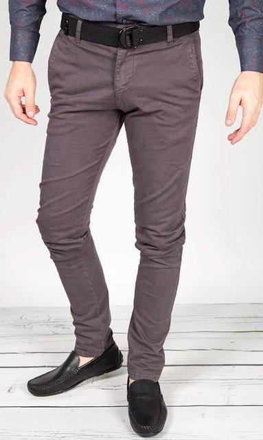 Spodnie materiałowe, męskie chinosy 7647 grafitowe.
