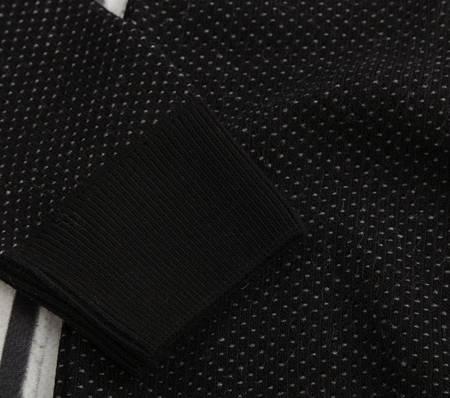 Sweter męski rozpinany Laid-Back 1433 czarny