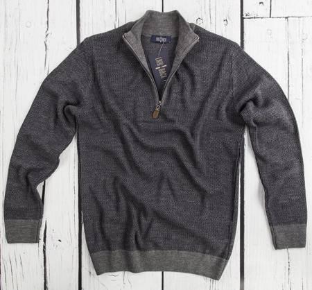 Sweter męski rozpinany Laid-Back 5437 grafitowy